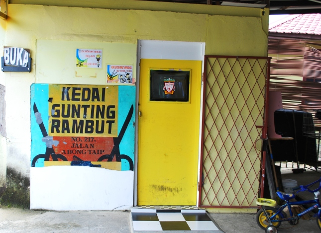 The hair salon Kampung style -  Le salon de coiffure
